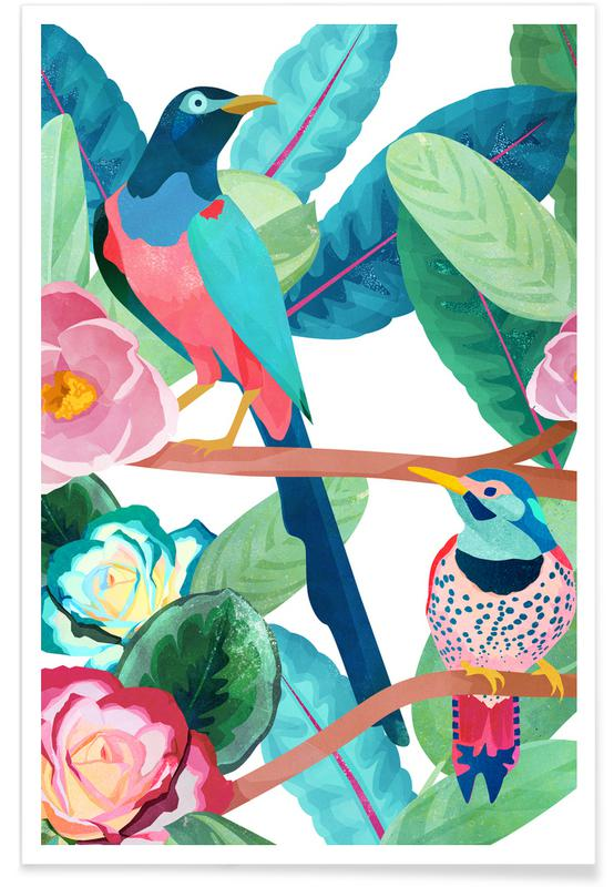 Art pour enfants, Birds affiche