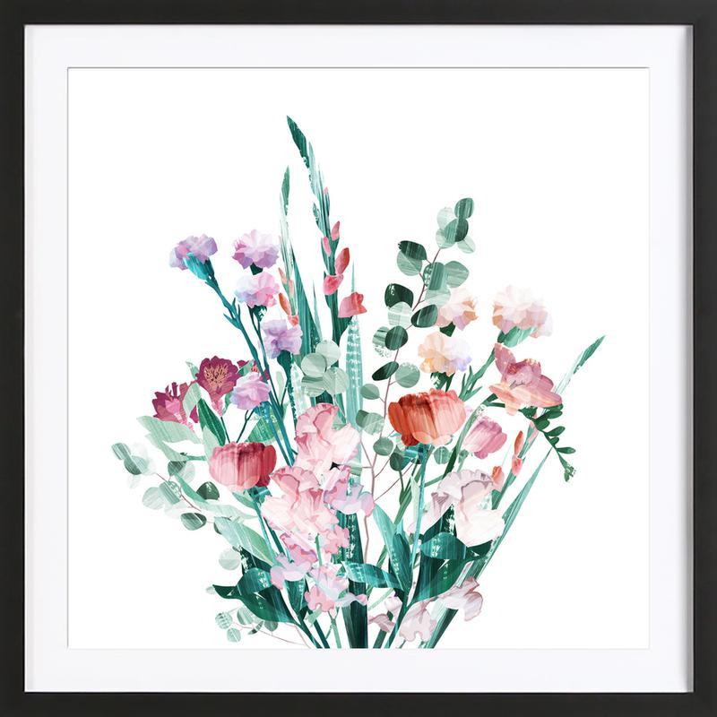 Spring Bouquet affiche sous cadre en bois