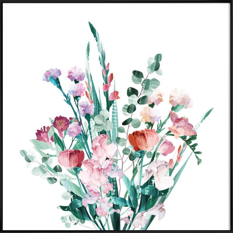 Spring Bouquet -Bild mit Kunststoffrahmen