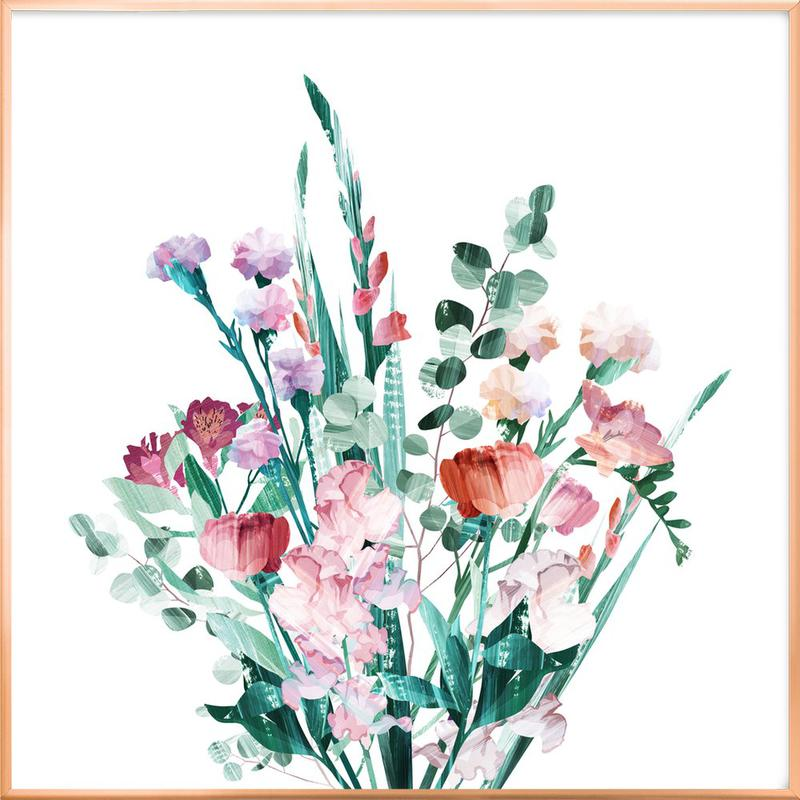 Spring Bouquet -Poster im Alurahmen