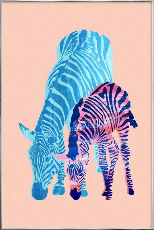 Striped Love Poster in Aluminium Frame