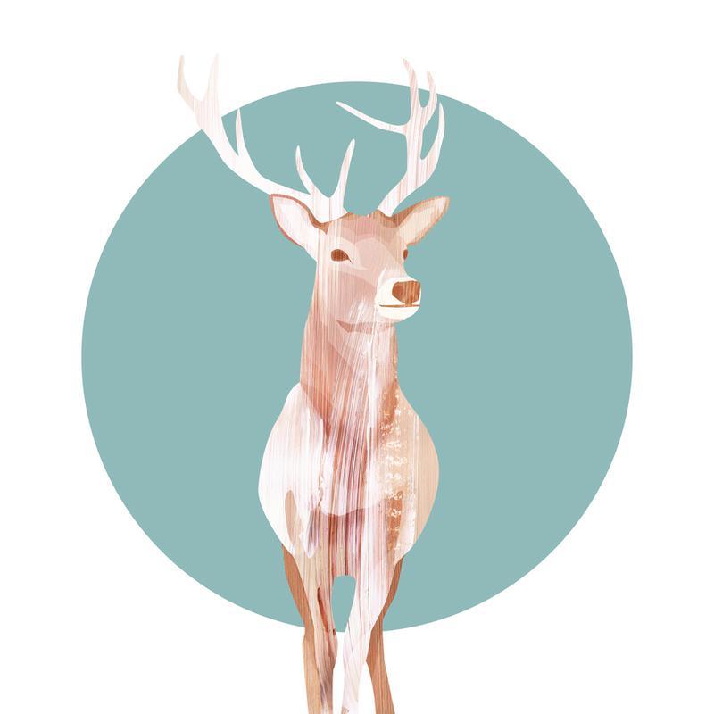 Deer canvas doek