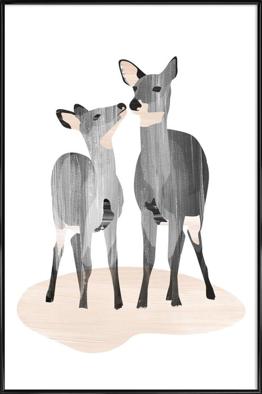 Oh Deer ingelijste poster