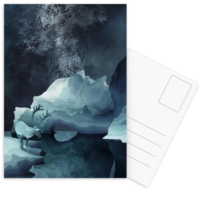 Cerfs, Rheindeer By Night cartes postales