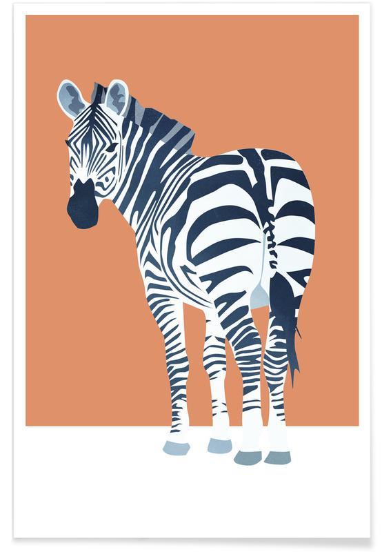 Zèbres, Art pour enfants, The Zebra Look affiche
