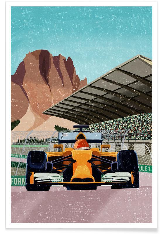 Auto's, Kunst voor kinderen, Formule 1 poster