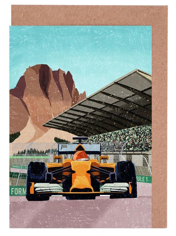 Formule 1 Greeting Card Set