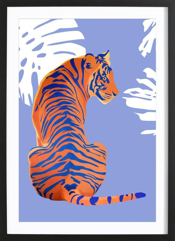 Tiger affiche sous cadre en bois