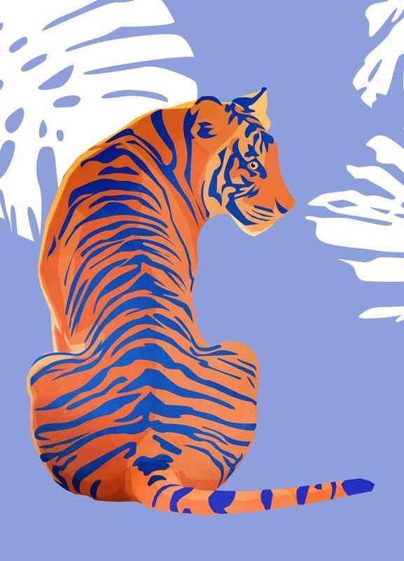 Tiger -Leinwandbild