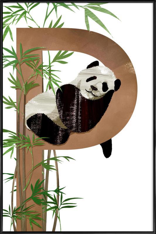 P Panda -Bild mit Kunststoffrahmen