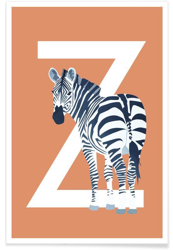 Z Zebra -Poster