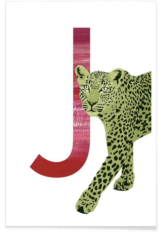 Jaguars, Nursery & Art for Kids, J Jaguar Poster