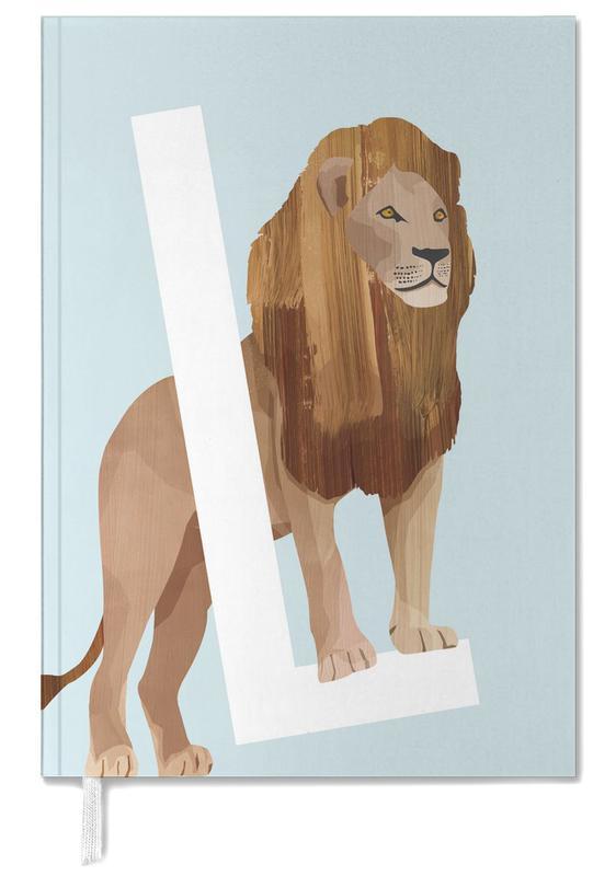 Nursery & Art for Kids, Safari Animals, L Lion Personal Planner