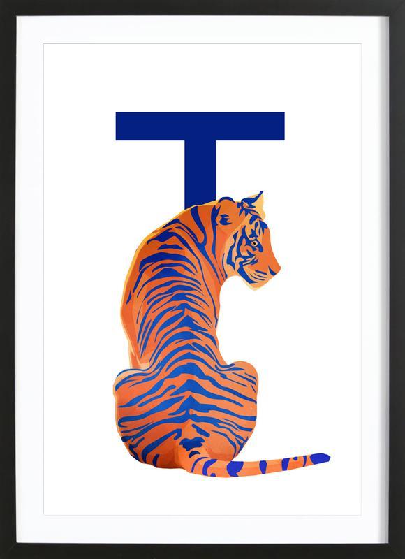 T Tiger Framed Print