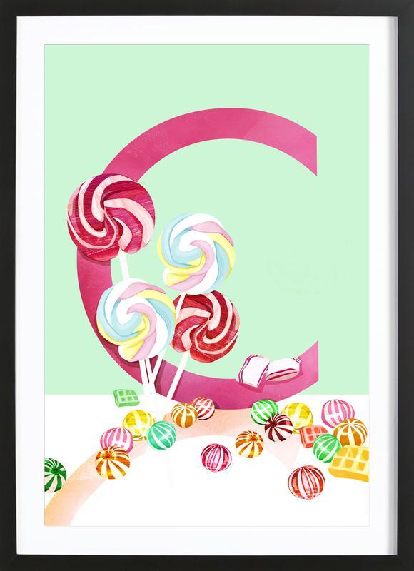 C Candy Framed Print