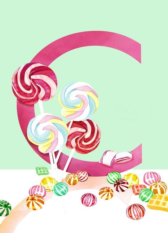 C Candy Canvas Print