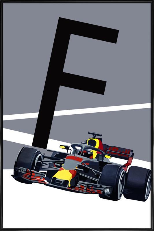 F Formula 1 Framed Poster