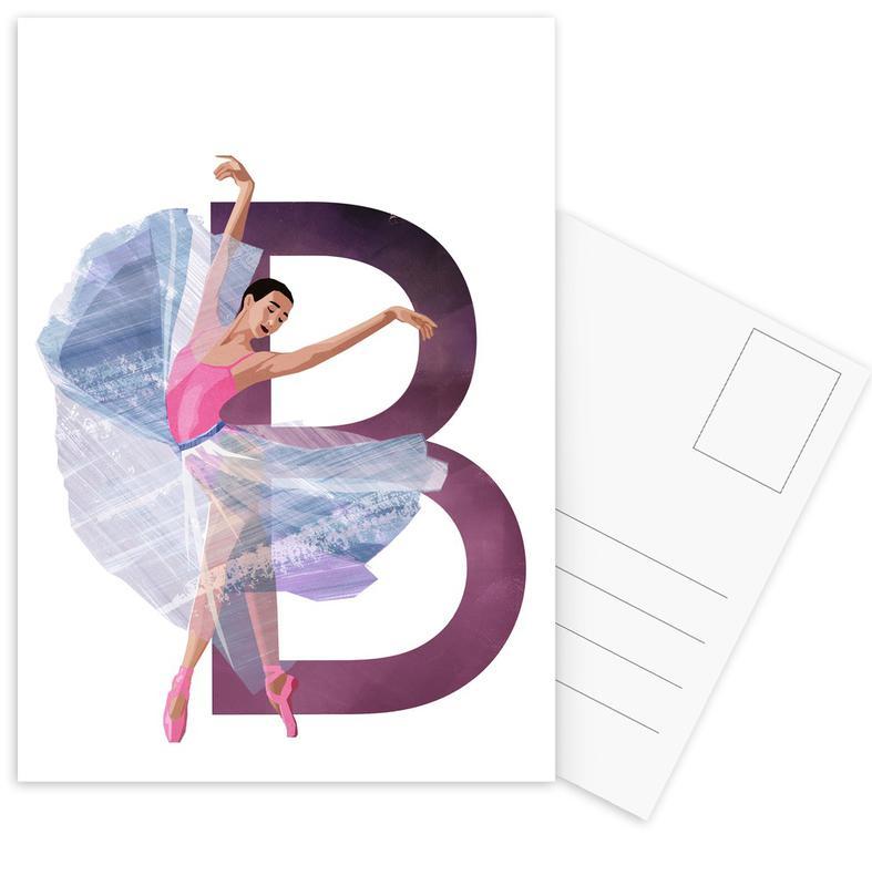 Dance, Nursery & Art for Kids, B Ballet Postcard Set