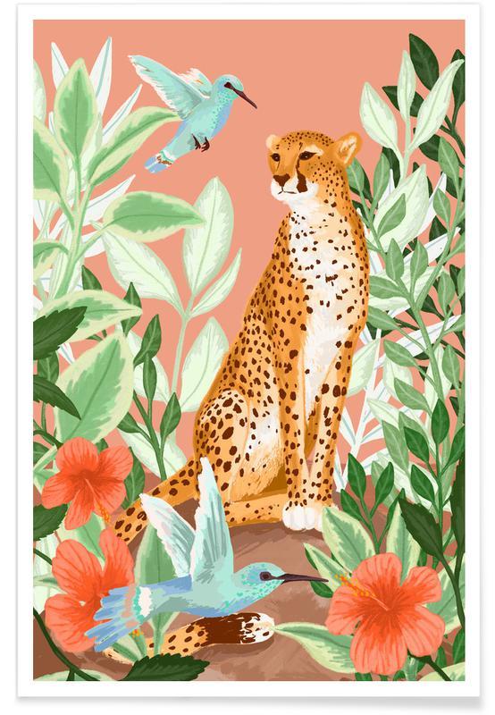 Geparder, Tropic Cheetah Plakat