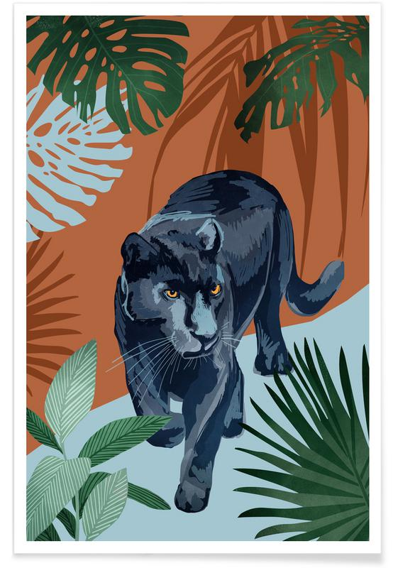 Leaves & Plants, Walk Of The Black Panther Poster