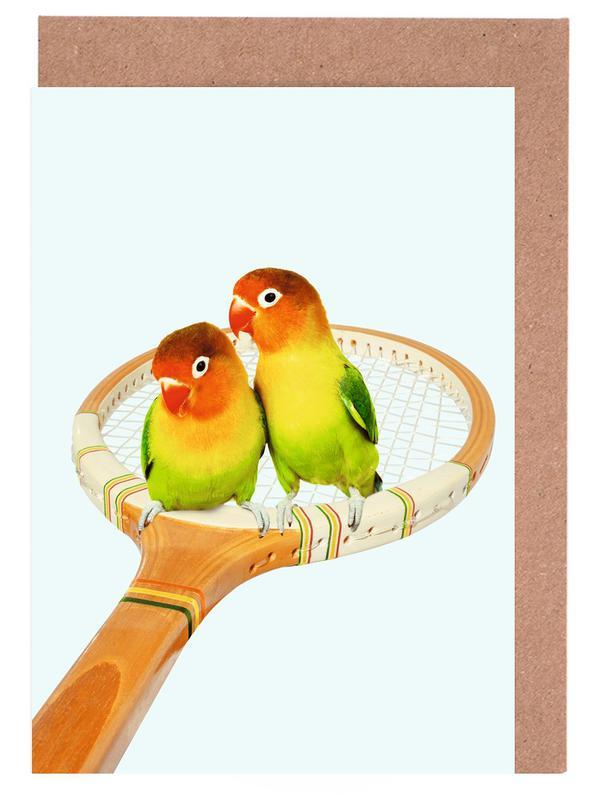 Perroquets, Art pour enfants, Humour, Retro Birds cartes de vœux