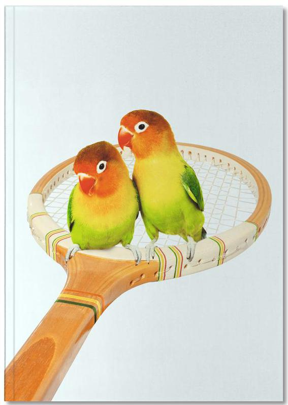 Nursery & Art for Kids, Funny, Parrots, Retro Birds Notebook