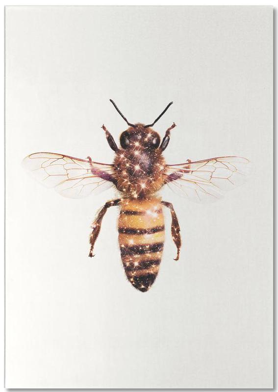 Abeilles, Art pour enfants, Humour, Glitter Bee bloc-notes