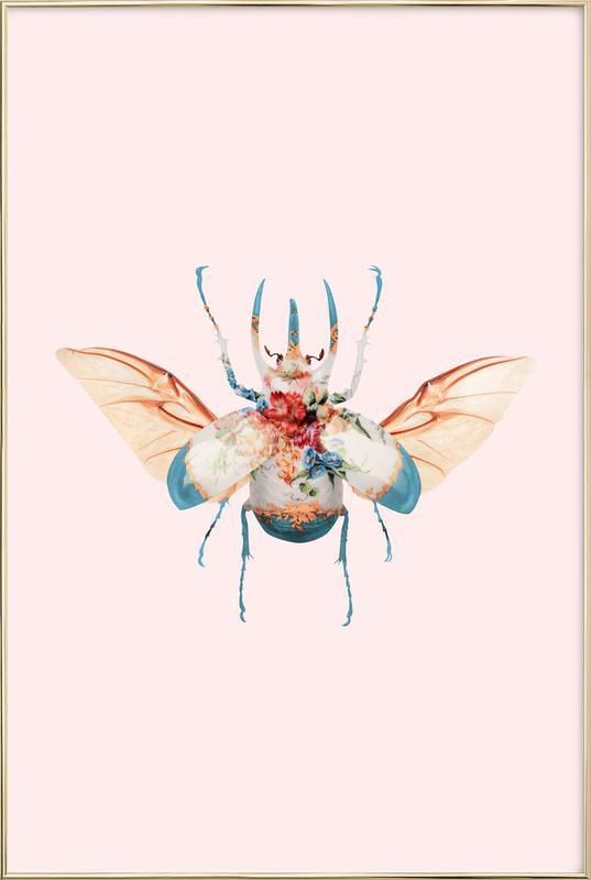 Vintage Beetle -Poster im Alurahmen
