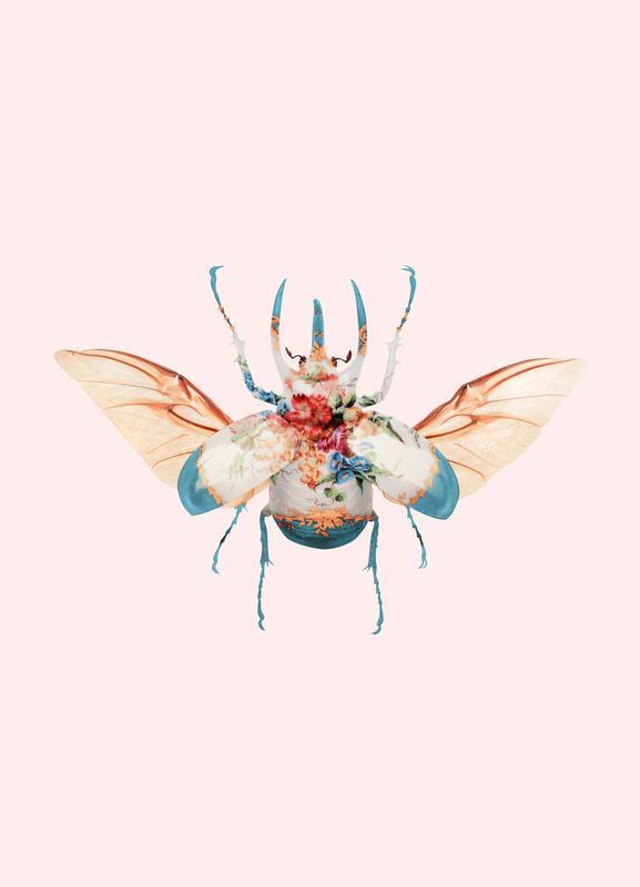 Vintage Beetle -Leinwandbild