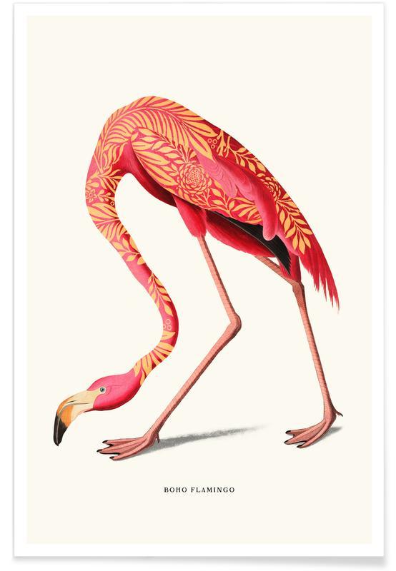 Flamingos, Boho Flamingo -Poster