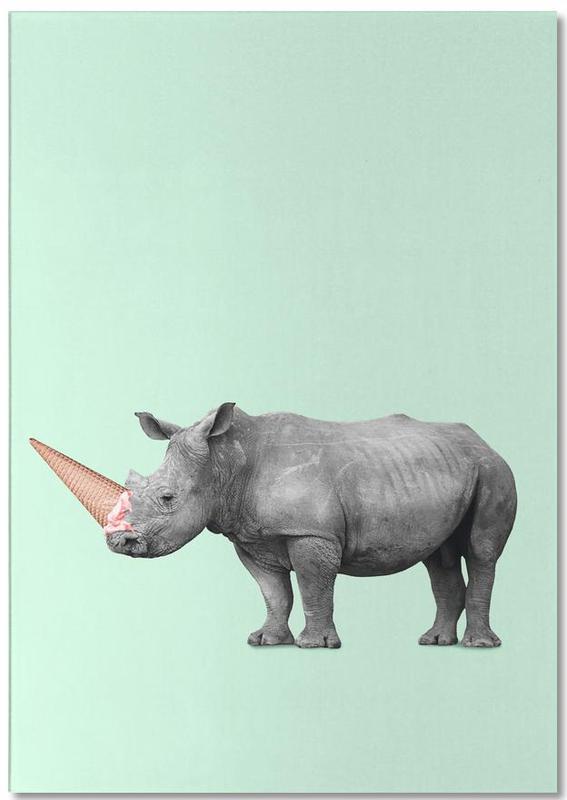 Ice Cream Rhino Notepad