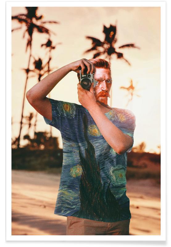 Portraits, Vincent on Vacation affiche