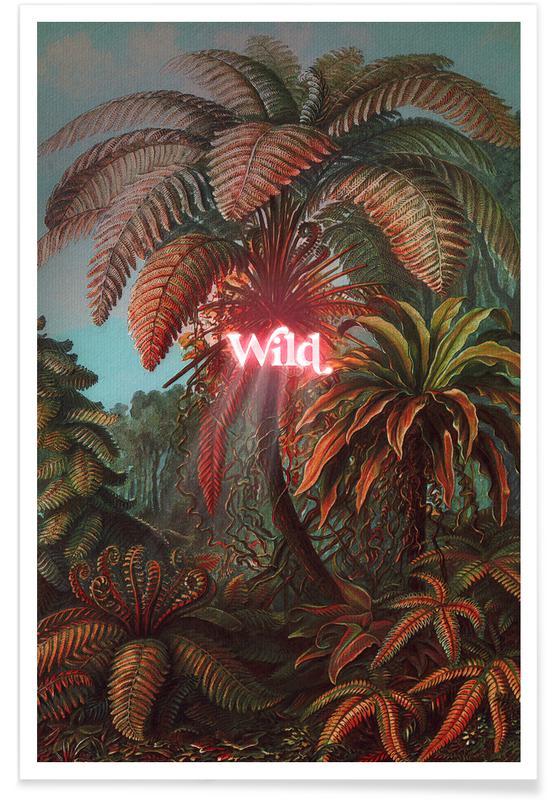 Feuilles & Plantes, Wild affiche