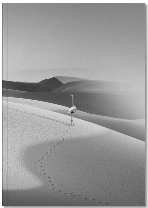 Wüsten, Flamingos, Schwarz & Weiß, Flamingo In The Desert Notebook