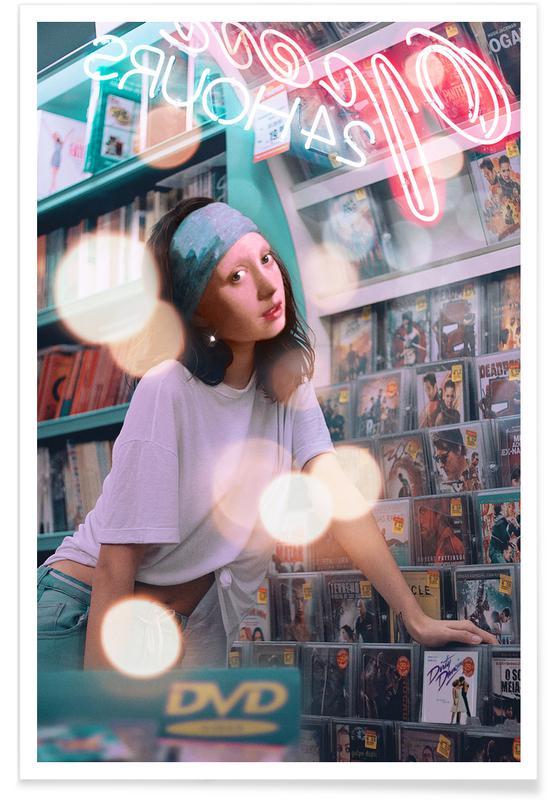 Jan Vermeer van Delft, Portraits, The Girl At The Video Store affiche