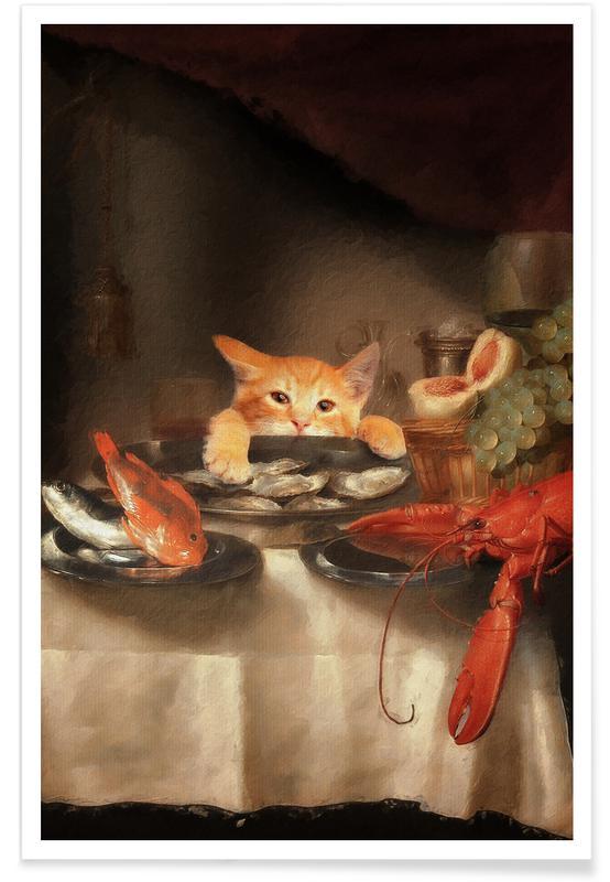 Cats, Cat Dinner Poster