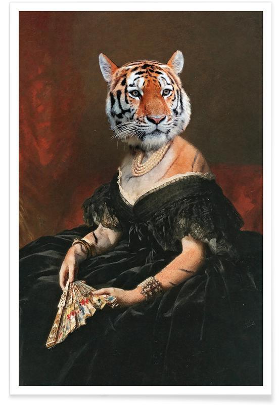 Grappig, Tijgers, Lady Tiger poster