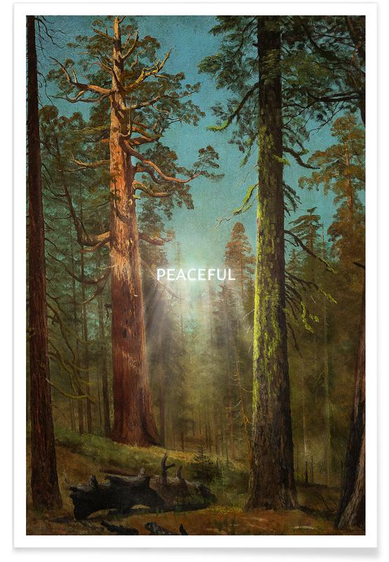 Feuilles & Plantes, Peaceful affiche