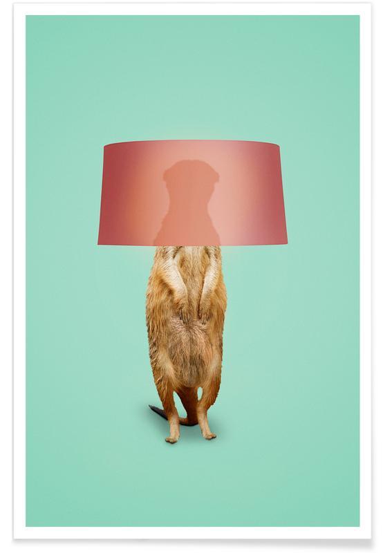 Humour, Meerkat Lamp affiche