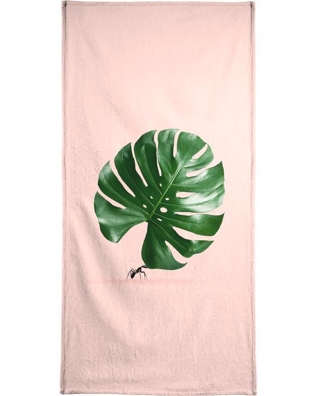 Monstera Ant Bath Towel