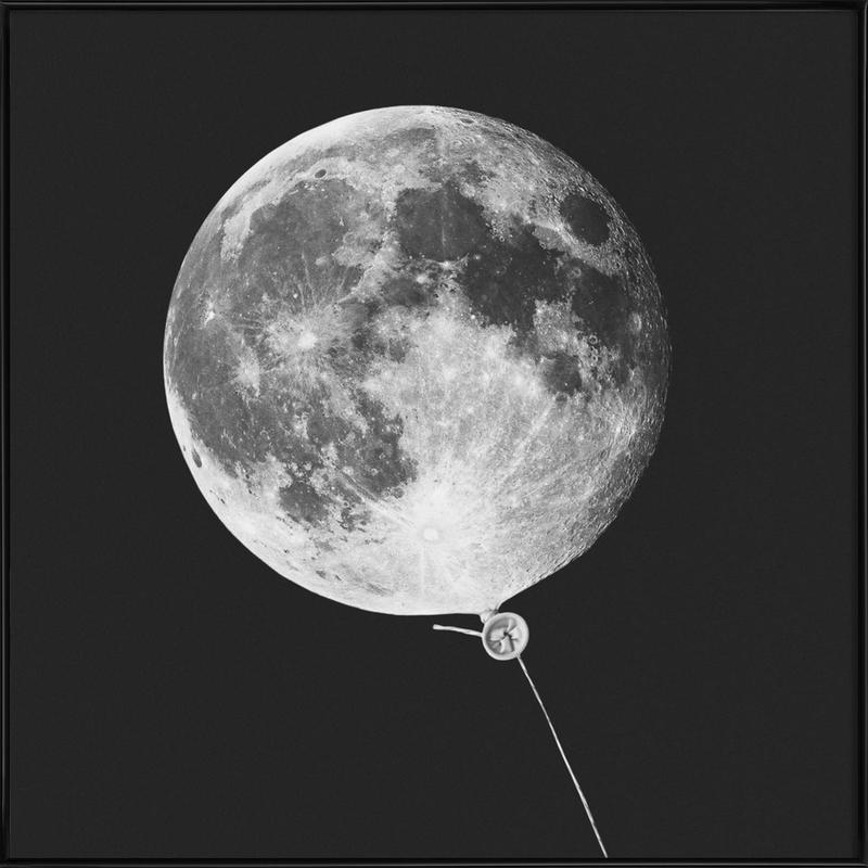 Moon Baloon ingelijste poster