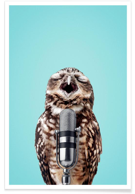 Owl Mic Poster