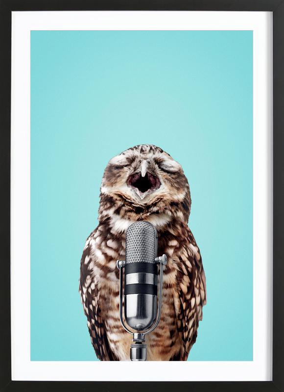 Owl Mic Framed Print