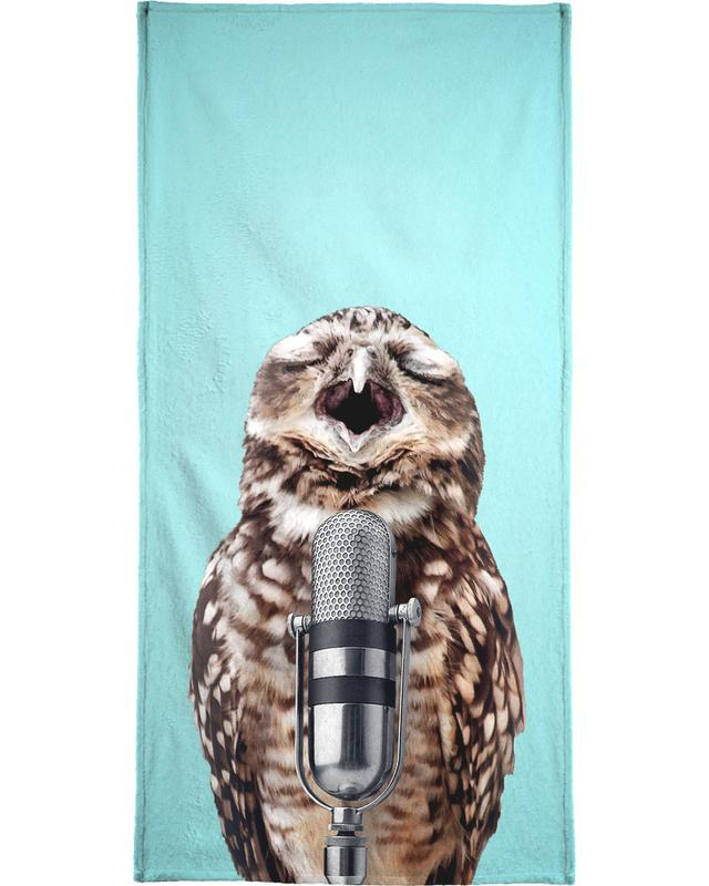Owl Mic Beach Towel