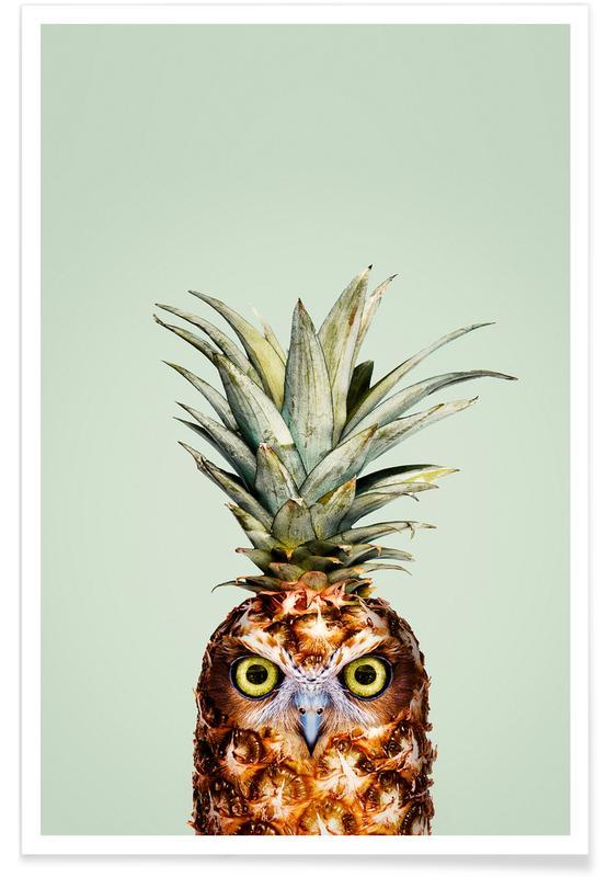 Eulen, Ananas, Lustig, Pineapple Owl -Poster