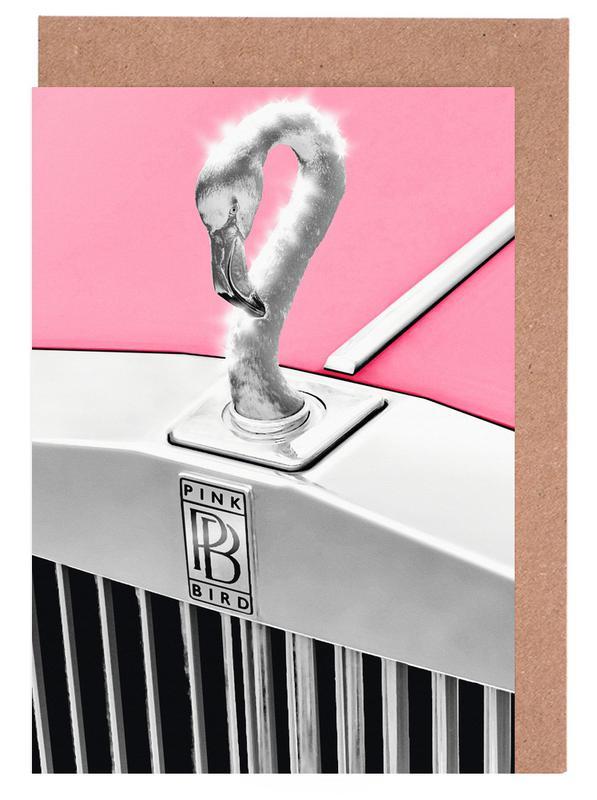 Pink Bird Greeting Card Set