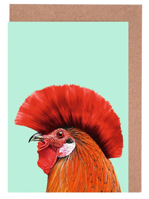 Congratulations, Funny, Punk Cock Greeting Card Set