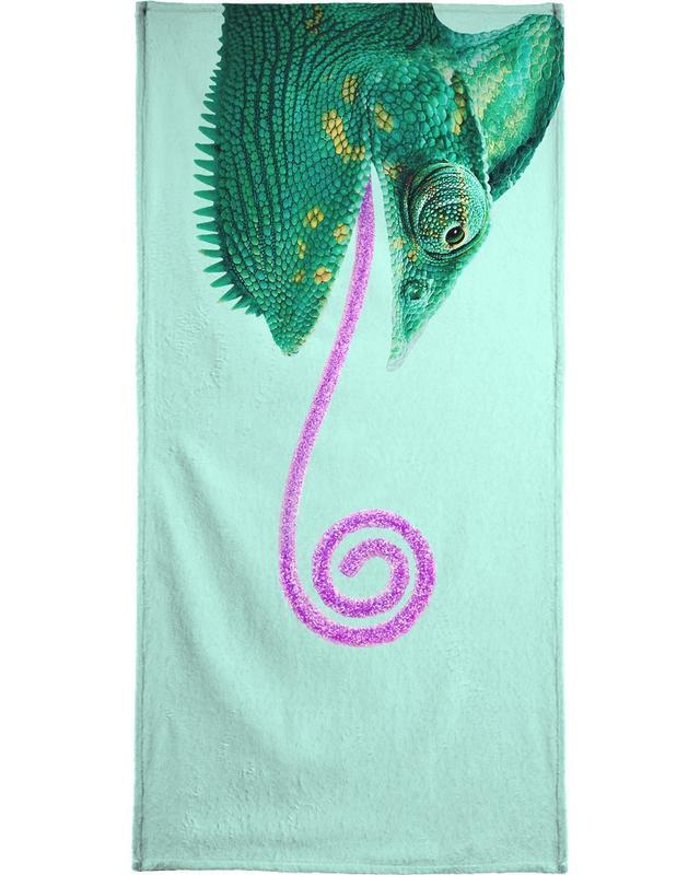 Candy Chameleon Beach Towel