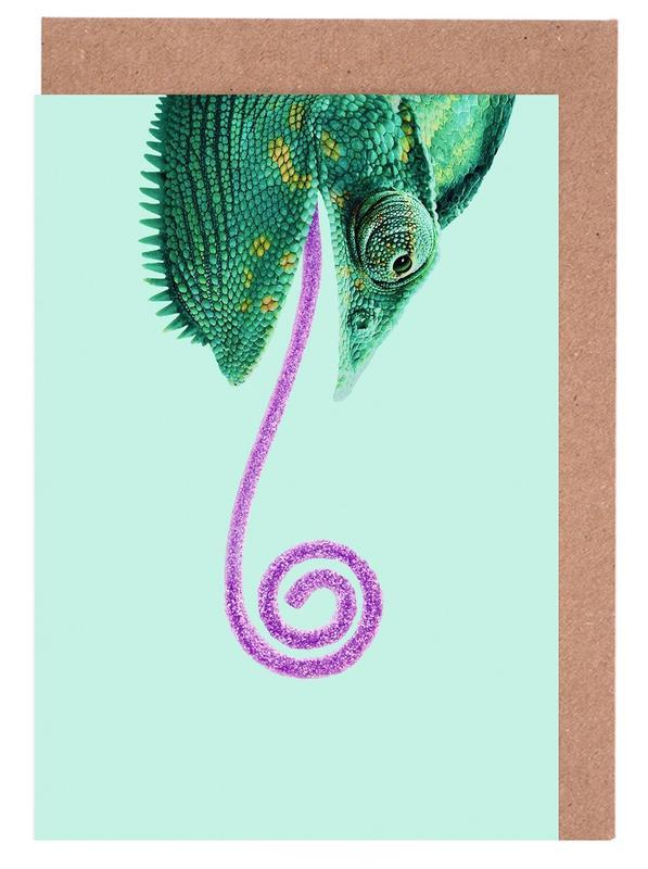 Lustig, Candy Chameleon -Grußkarten-Set