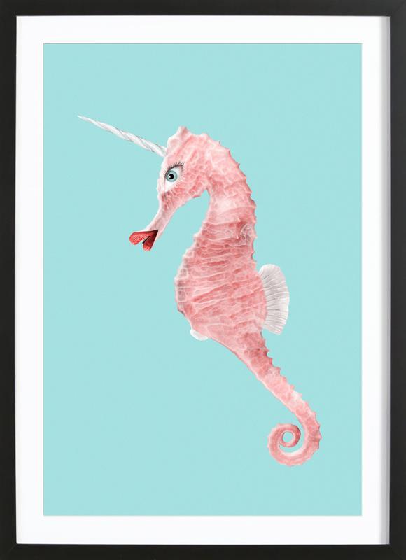 Sea Unicorn Framed Print